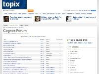 Topix Cognos forums